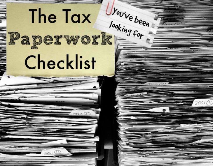tax paperwork checklist